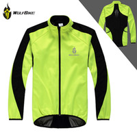Wholesale WOLFBIKE Sports Men Fleece Winter Jacket Cycling Jersey Long Sleeve Windproof Coat Outdoor Bicycle Cycle Wear Clothing M XL