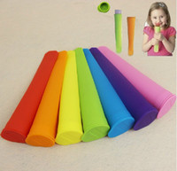 Cheap Wholesale Silicone Ice Lolly Pop Lollies Maker Jelly Moulds Jello Molds Quality Design 7 pcs lot and 7 colors