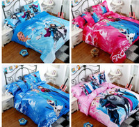 Wholesale King size comforter duvet cover set D Frozen Cartoon bedding set quilt cover sheet set children cotton high quality