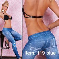 Wholesale Fashion Women Denim jeans False Rivet Leggings High quality seamless tights
