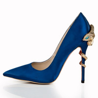 Where to Buy Navy Blue Satin Pumps Shoes Online? Where Can I Buy ...