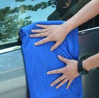 Cheap Soft 60x160CM Blue Car Wipe Cloth Wash Cleaning Washing Towel Micro Fibre drying for waxing polishing 5pcs lot