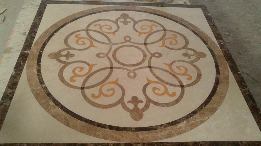 floor paving tile home decor dia 150cm marble waterjet pattern marble medallion greek design home interior