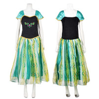 Wholesale Details about Sexy Princess Frozen Elsa Anna Cosplay Party Chic Adult Women Gown Fancy Dress F