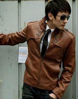 Cheap Men Leather Jacket Best Men Casual Jacket Coat
