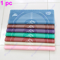 Wholesale X40CM Silicone Roll Cut Mat Square Rolling Cutting Pad Fondant Cake Boards Decorating Tool