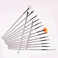 Wholesale Hot Sale White Professional acrylic Nail Art Brush Set Design Painting Pen Perfect Tools for nail