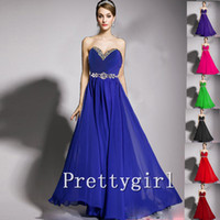 Wholesale ZJ0011 strapless sweetheart chiffon royal blue yellow red bridesmaid dresses brides maid bridemaids ladies maxi plus size new arrival