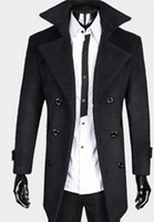 Wholesale new fashion mens winter coat big tall coats for men plus size black grey warm fashion coat dropship
