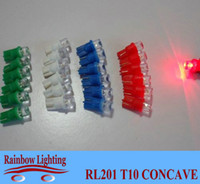 automotive bulbs - 12V T10 LED concave automotive Dashboard Warning Indicator LED bulbs Wedge194 work lights RL201