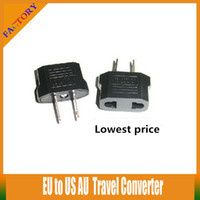Wholesale 20pcs Xma best Gift Protable EU to US AU Travel Converter Universal AC Power Plug Power Charger Adapter Home Wall Charger