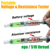 battery testing tools - Ego battery voltage atomizer resistance tester Portable ECSTT ohm test tool for CE4 MT3 protank aerotank nautilus BDC evod spinner tesla