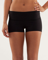 supplex yoga wear - Queen yoga supplex womens classical black elastic fitness wear yoga shorts