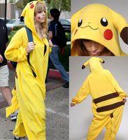 anima cartoons - Halloween Costume Winter Autumn Gift Pikachu Kigurumi Pajamas Animal Suits Cosplay Outfit Adult Garment Cartoon Jumpsuits Unisex Anima