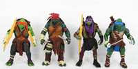 Wholesale 2014 New Teenage Mutant Ninja Turtles Movie Version quot Action Figure TMNT set Collection Toys with weapons inch
