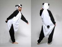 adult panda suit - Halloween Costume Winter Autumn Cute Panda Kigurumi Pajamas Animal Suits Cosplay Outfit Adult Garment Cartoon Jumpsuits Unisex Animal
