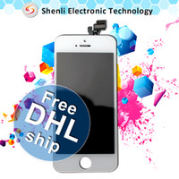Cheap 100PCS LOT Wholesale LCD For iPhone 5 5G Screen Display Replacement Test 1 By 1 Before Shipping