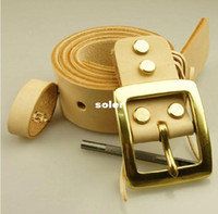 Wholesale High quality Men designer belts REAL Genuine Leather with PIN buckle western leather belt