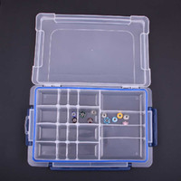 Wholesale 20 lattices transparent plastic boxes jewelry boxes storage box fashion rings storage small case cm eco friendly box