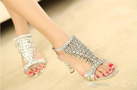 beaded boots sale - 2014 Hot Sale Sparkling High Heels Crystals Prom Evening Party Dress Lady Bridal Wedding Gowns Dresses Shoes High Heel Sandals