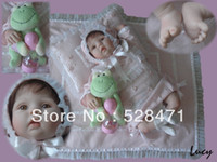 "Cheap 22"" Reborn Baby Dolls Silicone vinyl doll Kits Soft Toys Dolls for girls princess handmade Children's Day gift"