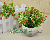 Cheap Wholesale-Free shipping 3pcs Small strawberry with water plants bowyer artificial flower artificial flower home decor