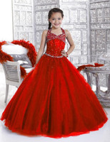 ball birthday cakes - NF12 Luxury Crystals Halter Flower Girl Dresses For Weddings Little Girls Party Prom Dress Cake Pageant Dress Vestido De Daminha