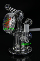 Wholesale New two function colorful glass bong water pipe with Titanium nail mm colorful bong smoking pipe waterpipe smoking pipe