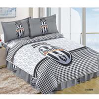 Wholesale Juventus Football Fans Cotton Children Bedding Set Kid Bedding duvet cover sheet pillowslips sets