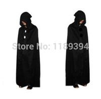 Wholesale Halloween costume cloak Black Death Death big black hooded cloak cape long cloak Devil