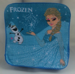 2014 New Frozen wash cloths kids face towel baby wash cloths Frozen Elsa Princess Olaf 20cm*20cm Childs Things Blue Washcloth