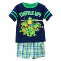 2014 kids Summer Ninja Turtles Cartoon clothes suit 2- 4T boy...