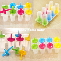 Cheap 2014 8 Cell Frozen Ice Cream Pop Mold Popsicle Maker Lolly Mould Tray Pan Kitchen Free Shipping