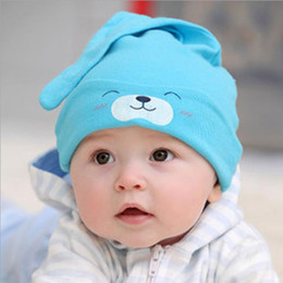 Wholesale Spring and autumn New supplies Baby sleep head cap Kids hats Tail suitable for babies under years