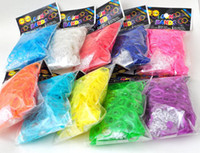 tie dye kit - New TIE DYE lowest price loom bands Kit late tie dye bracelet buckle crochet Y frame Rainbow loom toys children Chrismas Gift