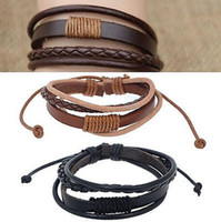 Wholesale High Quality PU Leather Bracelet Men s Woemn s Unisex Fashion Casual Knite Rope Bracelet Handmade Jewelry JB03123