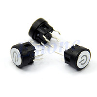 Cheap Blue Led Light Power Symbol Push Button Momentary Latching Computer Case Switch