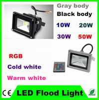 Wholesale 10W W W W LED Outdoor Floodlight RGB Warm White Cool White flood light with IR Remote Controller Colorful