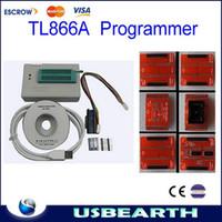 Wholesale high speed MiniPro TL866A HighSpeed USB MCU eeprom programmer with ICSP interface and adapters TSOP48 TSOP40 TSOP32 socket