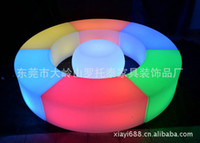 Wholesale Creative personality manufacturers led light LED Colorful LED snake stool chair support mixed batch