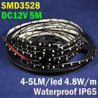 adhesive pcb - M W DC12V LM Yellow Color Epoxy Waterproof IP65 Self adhesive Black PCB Board Flexible LED Strip Light SMD3528