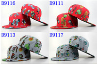 best zombie games - New Design cartoon snapback caps hot Game Snapback hat Ball Caps Plants Vs Zombies Snapback hats best snap backs cap Sport caps for men