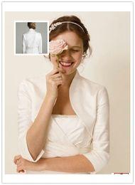 Wholesale Cheap Bridal Bolero Taffeta Wedding Jacket Charming Sleeves Bridal Shrug Shawl Wrap Coats Jackets For Wedding Party