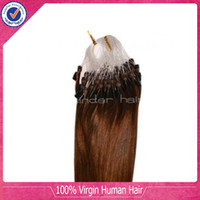 Wholesale Micro Loop Ring Hair extension inch inch g per strand strands per pack Indian Remy Hair Mircro Link Hair