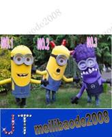 Compra Minion costume-Speciale Design Trio di Minion costumi Spregevole Me mascotte Costume Halloween Natale compleanno puntelli costumi spedizione gratuita MYY2887A