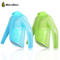 Wholesale New WOLFBIKE Rain Cycling Wear Windproof Waterproof Jacket Bike Outdoor Sports Long Sleeves Jersey Raincoat Suit Unisex BC418 W1057