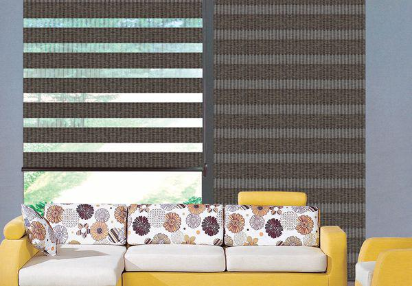 Custom Made Translucent Roller Zebra Blinds Light Filtering Sheer Shade In Dark Brown Curtains For Living Room Are Available Ikea Cheap Window