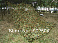 Wholesale x3m Woodland Leaves Camouflage Net Hunting Tent Camping Jungle Camo Net For Military Car Drop Cloths