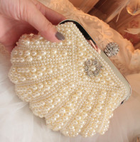 Women beaded handles - Top quality diamond evening bag pearl beaded party day clutch purses evening purses handbags wedding bridal bag colors