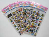 Wholesale Sheets Despicable Me Design Kids Cute PVC Puffy Stickers D Stickers Cartoon Craft Scrapbook Stickers